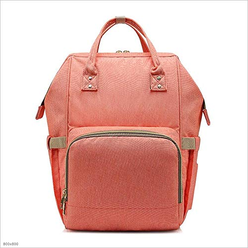 SHENAISHIREN Baby Wickelrucksack Wickeltasche-mit Wickelunterlage Multifunktional GroßeKapazität Babytasche Reisetasche for Unterwegs (Color : Pink)