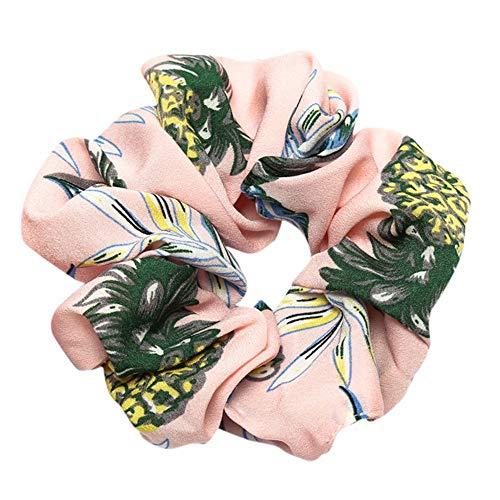 Farbe Bobble Sports Stirnbänder, TTWOMEN Damen Trendy Scrunchie Knoten Haarband Ring Elastic Dance Turban Haar Zubehör (Rosa)