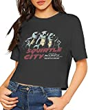 Squirtle City Women Crop Top T-Shirt Casual Tees