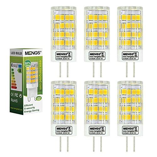 MENGS® 6 Stück G4 LED Lampe 5W AC/DC 12V Kaltweiß 6500K 51x2835 SMD Mit Keramic und ACRYLIC Material