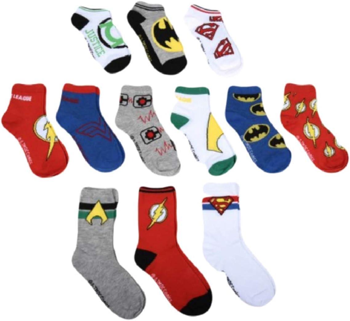 Justice League Boys 12 Days of Socks/12 Pair Socks Medium