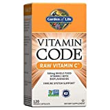 Garden of Life Vitamin C - Vitamin Code Raw Vitamin C - 120 Vegan Capsules, 500mg Whole Food Vitamin C with Bioflavonoids, Fruits & Veggies, Probiotics, Gluten Free Vitamin C Supplements for Adults