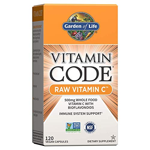 Garden of Life Vitamin C - Vitamin Code Raw C Vitamin Whole Food Supplement, Vegan, 120 Capsules