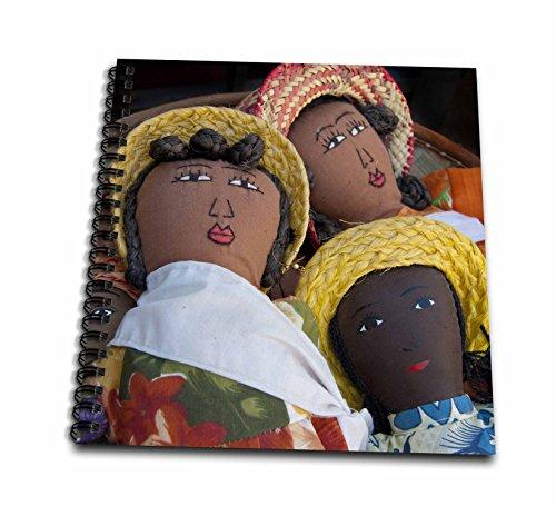 3dRose db_132045_1 Reunion Island. St Pierre, Market Dolls-Af34 Cmi0006-Cindy Miller Hopkins-Zeichenbuch, 20,3 x 20,3 cm