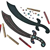 Elfen und Zwerge 6 x Säbel Schwert Piraten Piratensäbel Bastelset Kindergeburtstag Piratenparty Mitgebsel