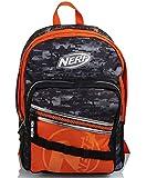 Seven Nerf Nation - Mochila de doble compartimento, color negro y naranja, para la escuela y el tiempo libre