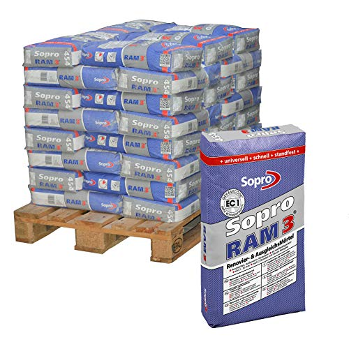 40 Sack/Palette Sopro RAM3 Renovierungsmörtel Ausgleichsmörtel