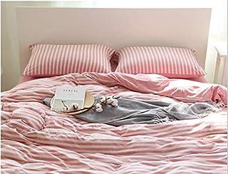 掛け布団カバー 秋- topcharme 綿100% 天竺ニット もちもち シングル 布団カバー 超柔らか 通気 吸汗 年間使用 (ピンク)