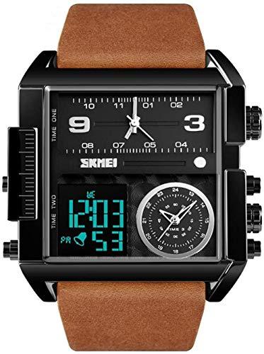 JSL Los hombres s cuadrado gran esfera reloj correa dominante cuarzo reloj de los hombres de negocios s reloj electrónico-7