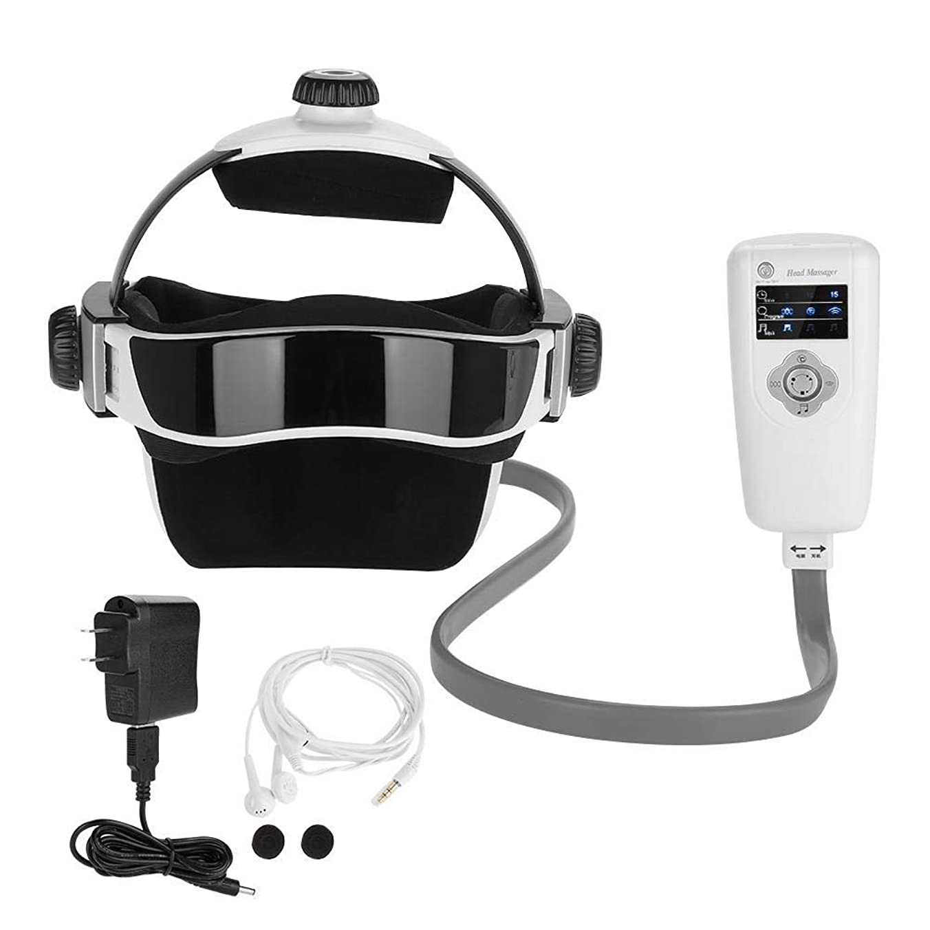 トリップ宴会ガソリン電気頭皮ヘッドマッサージ、人間化されたデザイン家庭用個人的なヘッドマッサージツールヘルメット圧力振動ヘルメット脳リラックスマッサージヘルスケア