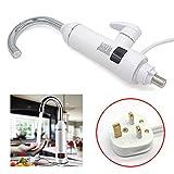 Rayinblue eléctrico agua caliente grifo cocina grifo con agua instantáneo...