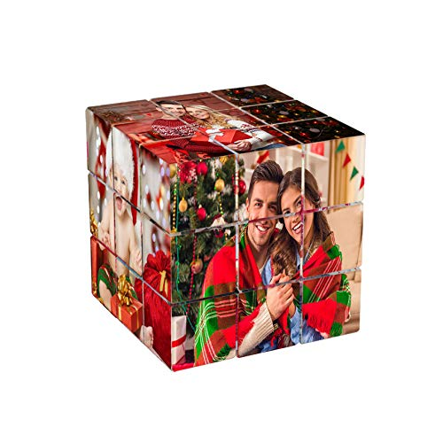 TheBigThumb Novedad Marco De Fotos De Plástico con 6 Fotos Personalizado De Tercer Orden Rubik'S Cube Álbum Memorias Ideas Únicas De Cumpleaños De Aniversario De Navidad