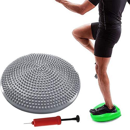 chunnron Cojin De Equilibrio Equilibrio Fitness Tabla de Estabilidad Antideslizante La Bola del Balance de Entrenador La Estabilidad de la Disco Gray,Freesize