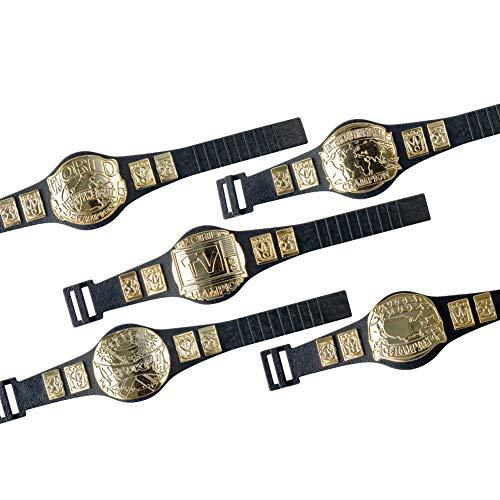 Set of 5 Championship Belts for Wrestling Action Figures