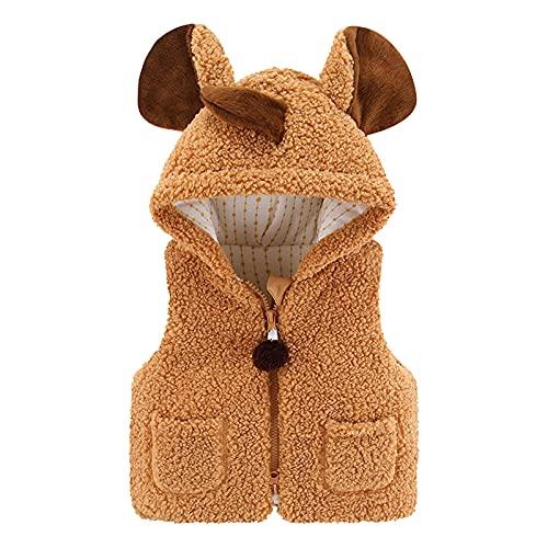 1-3 Years Old Children'S Jacket Cute Bear Ear Hooded Windproof Coat Solid Color Zipper Outdoor Warm Jacket