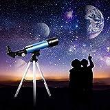 TZUTOGETHER Télescope Astronomique Lunette Réflecteur, avec trépied léger Convient aux Enfants...