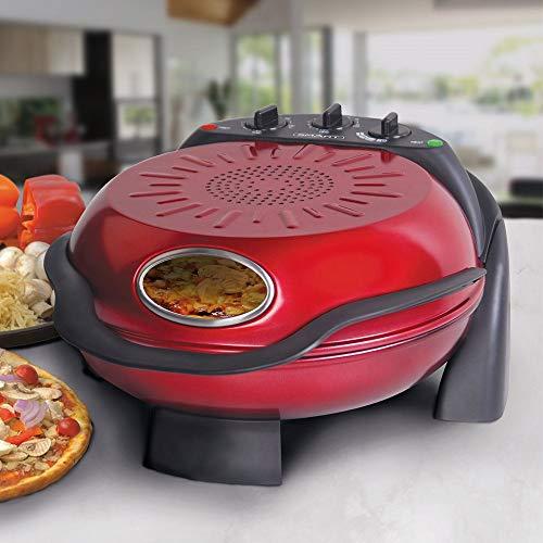 SMART Rotating Stone & Grill Pizza Maker (Red)
