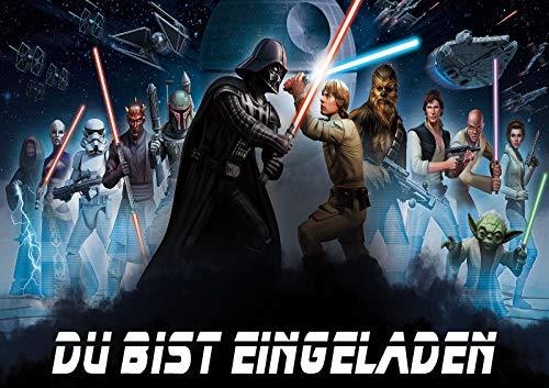 TV-24 Star Wars Einladungskarten 6er Set inkl. 6 Umschläge E9