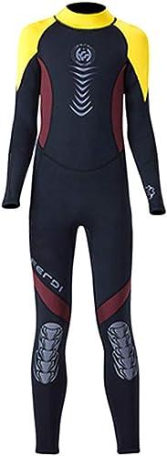 HBRT Combinaison à Manches Longues pour Enfants 2.5Mmcr Maillot de Bain Chaud Une pièce Snorkeling Surf Suit Super Stretch maillot de bain Sunscreen