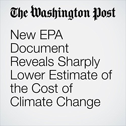 New EPA Document Reveals Sharply Lower Estimate of the Cost of Climate Change copertina