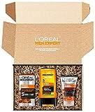 L'Oréal Men Expert Geschenkset für Männer mit Waschgel, Gesichtscreme und XL Duschgel mit Taurin,...