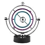 Zerodis Péndulo Newton Pendulo de Newton Bola de Equilibrio, Vía Láctea Kinetic Movement Swing Ball Wiggler Eléctrico Newtons Cradle Balance Ball Toy Home Office Decoration