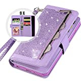Galaxy S9 Bling Wallet Case for Women,Auker Trifold 9 Card Holder...