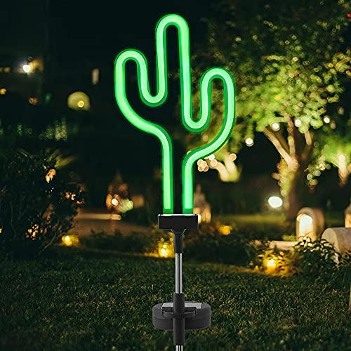 サボテンガーデンライトソーラー埋め込み芝生ライトIP65屋外防水景観照明自動点灯/消灯 センサー屋外園芸装飾ギフト景観ライト芝生/道路/庭/屋外での使用(1個)