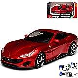 Ferrari Portofino Coupe Rot Metallic Ab 2018 1/43 Bburago Modell Auto mit individiuellem Wunschkennzeichen
