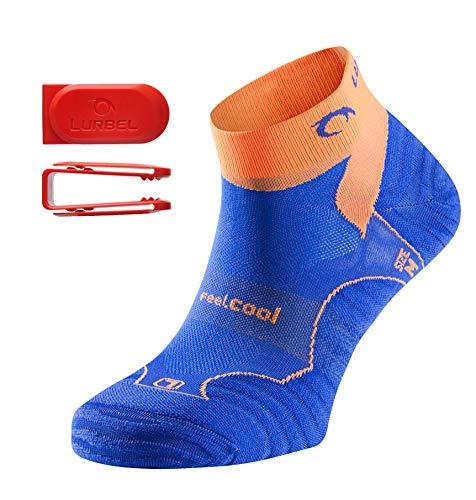 """Lurbel """"Tiwar"""" - Kurze Premium Laufsocken/Sportsocken mit Kanälen für Luftzirkulation, leicht gepolstert, für Damen & Herren (orange, 43-46)"""
