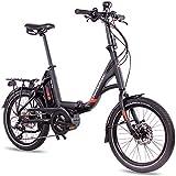 CHRISSON 20 Zoll E-Bike Klapprad EFB schwarz -...