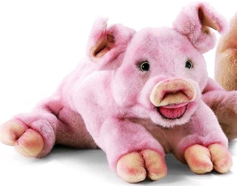 3899 - Hansa Toy - Schwein liegend 32 cm B000ZORTQO Einfach zu bedienen | Spielzeugwelt, fröhlicher Ozean