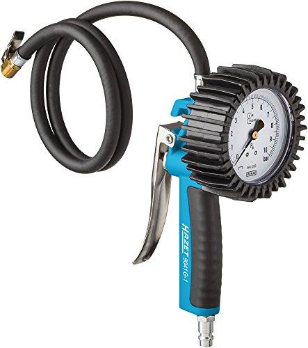 Hazet 9041G-1 Reifenfüll-Messgerät (geeicht, großes Manometer: 80 mm Durchmesser, Messbereich: 0 bis 10 bar)