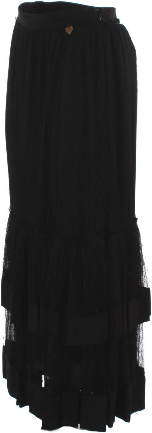 Twinset 201TP2372 Dames lange rok zwart.