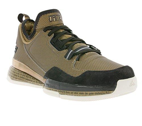 adidas D Lillard BHM Herren Basketball Turnschuhe D68944 Turnschuhe - SBROWN/LBROWN/NBROWN D68944, UK 9 US 9.5 EU 43 1/3