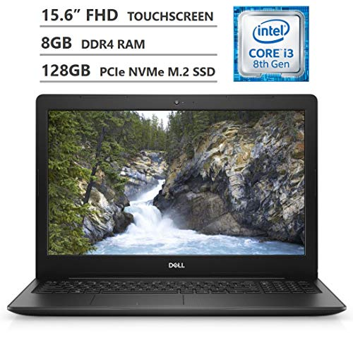 "Dell Inspiron 15 5000 Series Laptop, 15.6"" Full HD Touchscreen, Intel Core i3-8130U Processor up to 3.40GHz, 8GB DDR4 RAM, 128GB PCIe NVMe M.2 SSD, HDMI, Wireless-AC, Bluetooth, Windows 10 Home, Black"