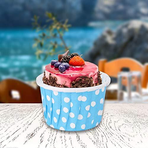Moules De Cuisson Fournitures De Cuisson, Tasses De Cuisson Papier Muffin Liners Cake Cup, Pour La Maison De Mariage D'anniversaire Pour La Fête(blue)