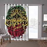 YUAZHOQI cortinas aisladas de reducción de ruido, rasta, cabeza de león salvaje etíope, 100 x 108 pulgadas de ancho cortinas oscurecimiento para habitación (1 panel)