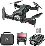 QqHAO GPS Drone con cámara 4K HD 120 ° Gran Angular WiFi FPV RC Drone Altitude Hold Sígueme Modo sin Cabeza Plegable RC Quadcopter para Adultos con 2 baterías y Bolsa de Almacenamiento