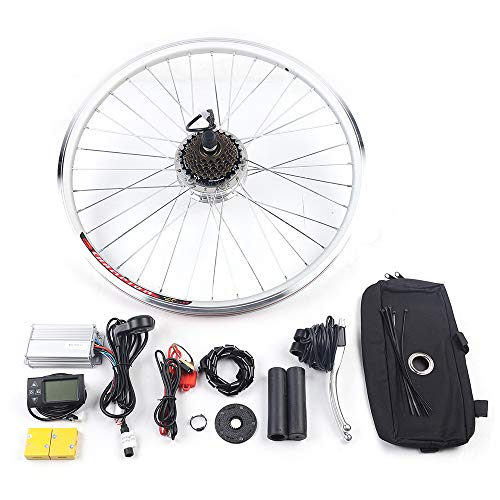 "BTdahong 36V Kit de Conversión de Bicicleta Eléctrica, DIY Hub Motor Ebike, E-Bike Rueda Trasera Hub de Ciclismo, Bicicleta Motor Ruedas de Ciclismo sin Escobillas (26"" 250W)"