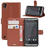 HualuBro HTC Desire 530 Hülle, Premium PU Leder Leather