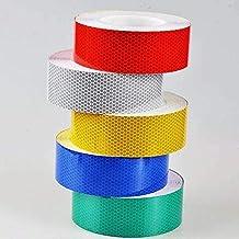 Reflecterende tape, veiligheidswaarschuwing hoge intensiteit reflecterende sticker zelfklevend waterdicht voor aanhangwage...