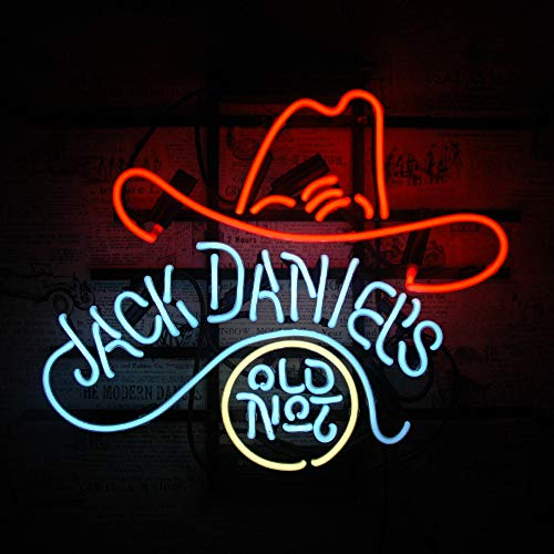 Neonreklame Neon Sign-Handgefertigt Echtglasröhre Nachtlicht Wandbehang Bier Bar Heim Zimmer Wohnzimmer Kunstwerk-Leuchtreklame Neonschilder Neonleuchte Neonwerbung (Jack Daniel's 17