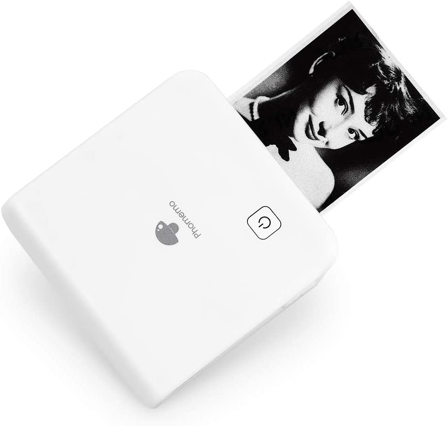 Phomemo 300dpi Pocket Mobile Pocket Printer- M02 Pro Thermal Bluetooth Portabel Mini Photo Printer Compatible with iOS and Android, for Photo Printing, Graffiti,Learning,Work, White