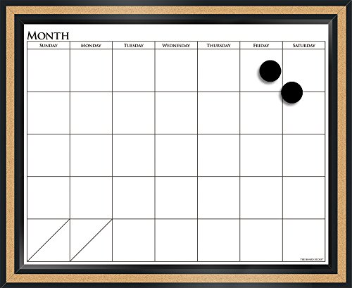 The Board Dudes 18 x 22 Magnetic Dry Erase/Cork Combo Board 15094-4