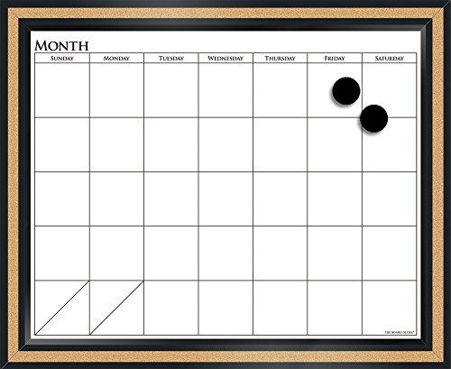 The Board Dudes 18' x 22' CorX Magnetic Dry Erase Calendar (CYK39)