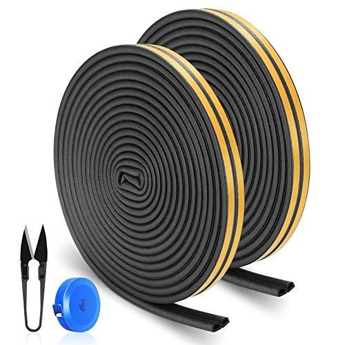 RATEL16m/ 52.5ft Dichtungsband für Türen, Türdichtung Fenster Anti-Kollisions-Dichtungsstreifen mit 1 Schere und 1 Maßband zum Blockieren von Rissen und Lücken (Schwarz)