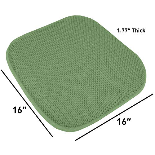 4 Pack Memory Foam Honeycomb Nonslip Back 16
