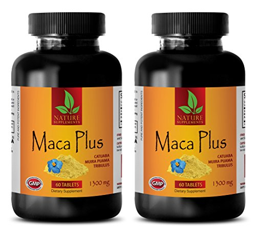 Male Enhancing Pills Increase Size and Length - MACA Plus 1300mg - Maca Root Pills for Men Sex - 2 Bottles 120 Tablets