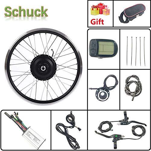Schuck 36V 500W Kit de conversión de Motor de Bicicleta eléctrica de Rueda Delantera de 20 Pulgadas, Cubo de Bicicleta LCD KT-LCD5